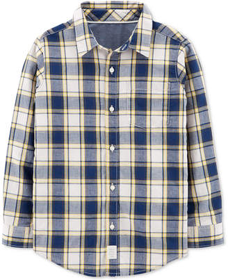 Carter's Little & Big Boys Plaid Cotton Shirt