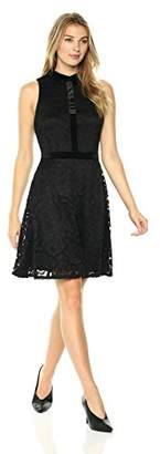 Lark & Ro Women's Sleeveless Fit and Flare Lace Dress