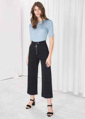 And other stories Faded Denim Culottes