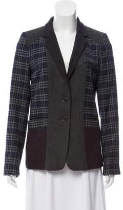 Gerard Darel Plaid Wool-Blend Blazer