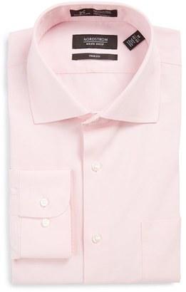 Men's Big & Tall Nordstrom Men's Shop Smartcare(TM) Trim Fit Solid Dress Shirt $55 thestylecure.com