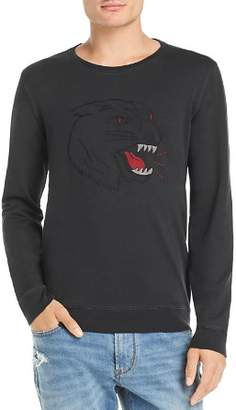 John Varvatos Tiger-Embroidered Long-Sleeve Graphic Tee