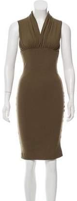 DSQUARED2 Wool-Blend Sleeveless Dress