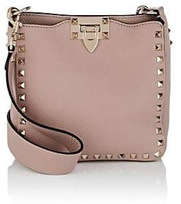 Valentino Women's Rockstud Mini Leather Hobo Bag - Neutral