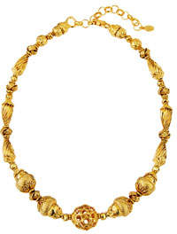 Textured Filigree Bead Necklace