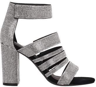 Jeffrey Campbell Black-silver Fabric Sandals