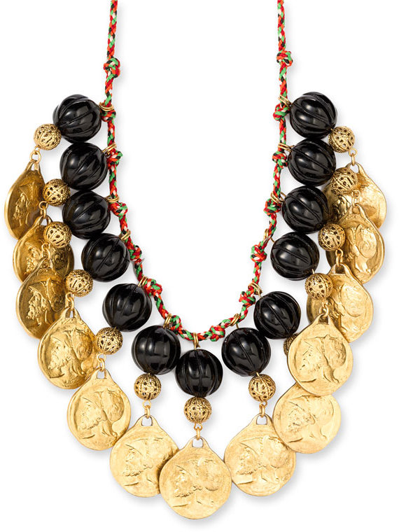 Couture Couture by Juicy Couture Long Strand Bead & Coin Necklace