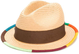 Paul Smith Artist Stripe border plaited hat