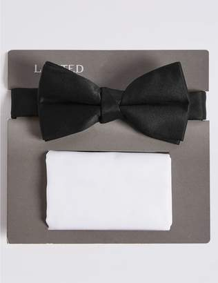 Marks and Spencer Pre Tied Bow Tie & Pocket Square