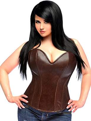 a819dbd3e4 Daisy corsets Women s Top Drawer Steel Boned Faux Leather Corset