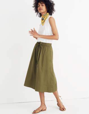 Madewell Drawstring Circle Skirt
