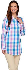 Joan Rivers Classics Collection Joan Rivers Box Check Boyfriend Shirt