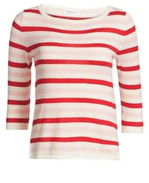 Majestic Filatures Striped Cotton Cashmere Sweater