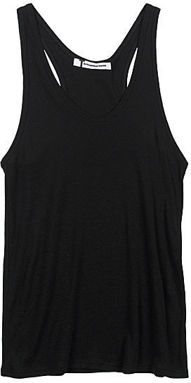 T by Alexander Wang / Fitted Baby Rib Racer Tank