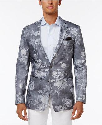Tallia Men's Slim-Fit Gray Floral-Print Sport Coat $350 thestylecure.com
