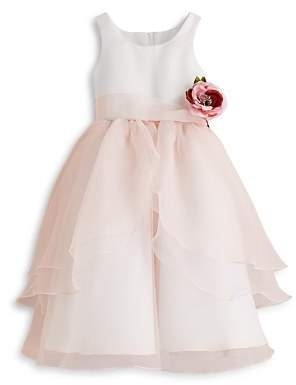 Us Angels Girls' Organza Flower Girl Dress - Little Kid