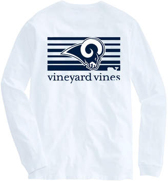 Vineyard Vines Adult Rams Long-Sleeve Block Stripe T-Shirt