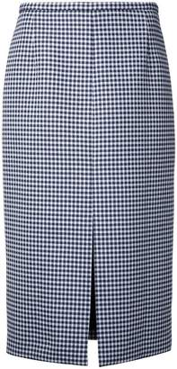 Michael Kors checked skirt