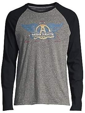 John Varvatos Men's Graphic Raglan-Sleeve Pullover