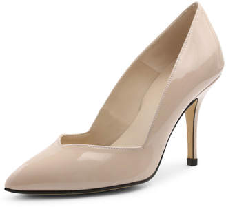 Andre Assous Steph Patent Pointed-Toe Pump, Beige $119 thestylecure.com