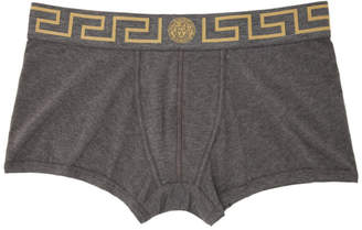 Versace Underwear Grey Medusa Low-Rise Boxer Briefs