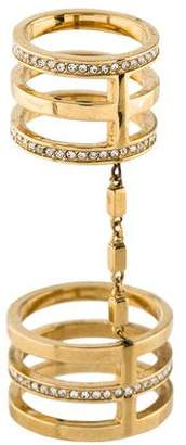 Michael Kors Double Crystal Knuckle Ring