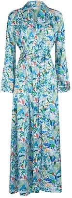 Derek Rose Brindisi Jungle Print Gown