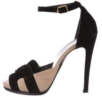 Hermes Highlight Suede Sandals