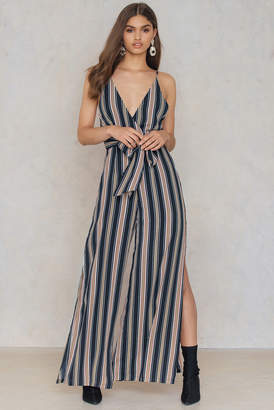 Hommage Striped Jumpsuit Navy