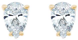 Affinity Diamond Jewelry Pear Diamond Stud Earrings, 14K Yellow, 1/4cttw, by Affinity
