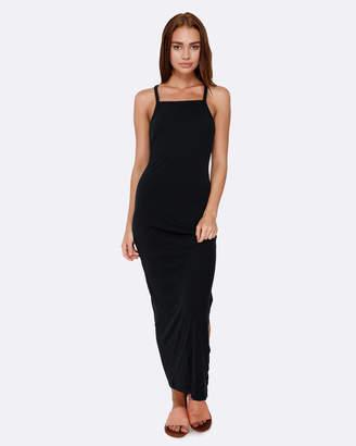 Roxy Womens Salty Siren Strappy Jersey Maxi Dress