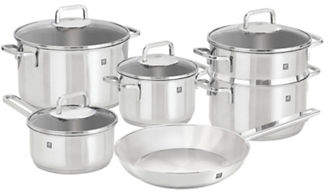 Zwilling J.A. Henckels ZWILLING 10-Piece Quadro 18/10 Stainless Steel Cookware Set - Induction Ready