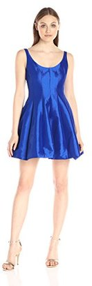 Betsy & Adam Women's Short Party Dress with Exposed Zipper $169 thestylecure.com