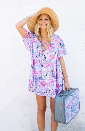 Women's Show Me Your Mumu Floral Print Tunic 2