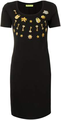 Versace key print dress