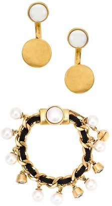 Camila Klein embellished earrings and bracelet set