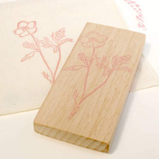 S.t.a.m.p.s. Little Stamp Store Botanical Buttercup Hand Carved Rubber Stamp