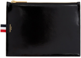 Thom Browne Black Large Coin Pouch $450 thestylecure.com