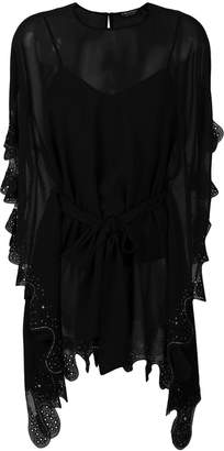 Twin-Set embroidered draped blouse