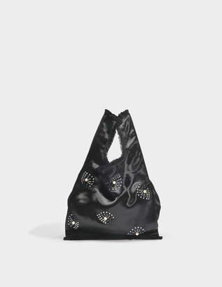 Sonia Rykiel La Poche Rykiel Bag in Black Satin