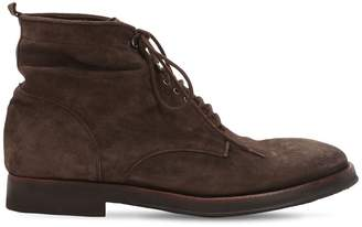 Alberto Fasciani Lace-Up Washed Suede Boots