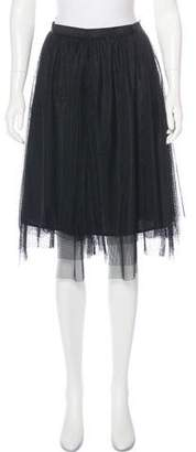 Isaac Mizrahi A-Line Knee-Length Skirt