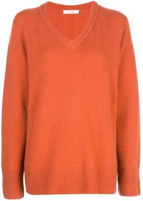 The Row fine knit V-neck sweater