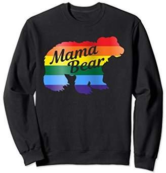 Gay Pride Mama Bear Shirt Love LGBTQ Sweatshirt