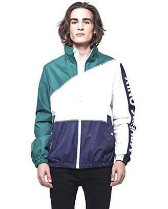 Members Only Men's Nautical Colorblock Windbreaker Jacket