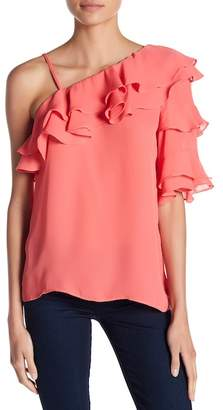 Parker One Shoulder Ruffle Top