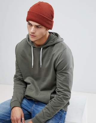 New Look Knitted Beanie In Rust