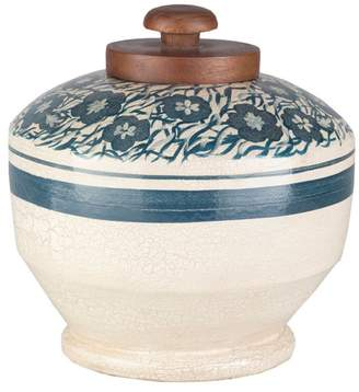Surya Bohemian Global Jar With Off-White