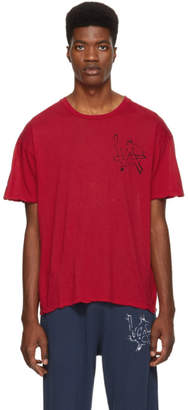 Adaptation Red Cotton Cashmere LA T-Shirt