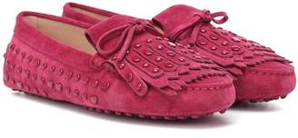 Tod's Gommino suede fringe loafers